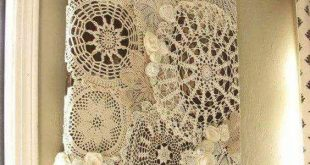 50 Splendid Homemade DIY Lace Crafts to Your Home Décor