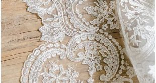 Corded Ornament Lace Fabric, bridal lace fabric, Ornament Wedding Lace, Couture Lace, Alencon Lace fabric, Pallas Couture lace - (L17-042)