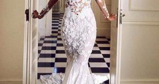 Mermaid V-neck White Lace Wedding Dresses.Cheap Wedding Dresses, WDY0275 Mermaid V-neck White Lace Wedding Dresses.Cheap Wedding Dresses, WDY0275