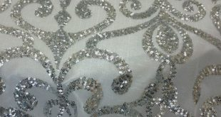 Sequins Lace Fabric to our fine line of fabric. If your new to fabric, sequins i...