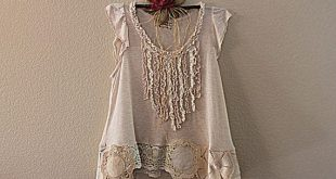 Shabby Chic Shirt | Women's Upcycled Clothing | Vintage Lace Clothes