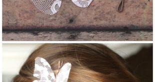 Stiffened Lace Butterfly Hair Pins