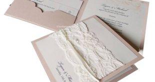 LACE wedding invitation | Pocket fold VINTAGE invitations with lace | Glam French vintage lace invites | Luxury wedding invitation set