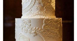 Show me your fondant free Lace themed wedding cakes please :) : wedding cake fo...