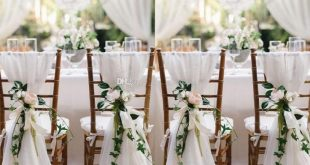 2016 New Designer 6/lots Chair Sashes Wedding Accessory Cheap Wedding Supplies Wedding Decoration Ruffles Chiffon Chair Covers
