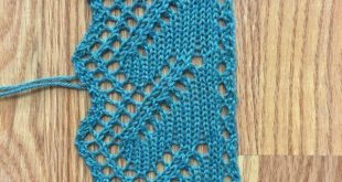 An Education in Grafting Lace Edgings: Edging Pattern 2