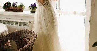Brautkleid /Ivory Kleid /Tulle Hochzeit, Champagner Brautkleid, 2017, öffnen Sie wieder Kleid, nude Brautkleid, Brautkleid Elfenbein