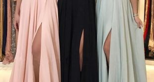 Charming Lace Halter Long Chiffon Split Bridesmaid Dresses
