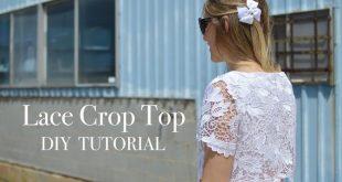 DIY Lace Crop Top Tutorial
