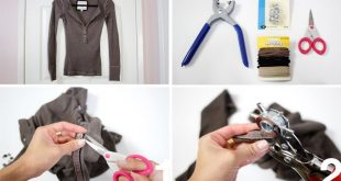 #DIY Lace-up Shirt Picture-by-Picture instructions. How to update your old henle...