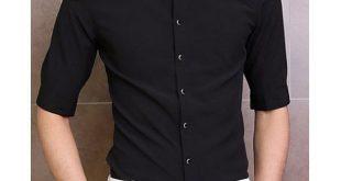 Fashion Lace Splicing Shirt Collar Three-Quarter Sleeve Slimming Cotton Shirt Fo...