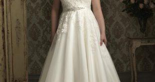 Luxurious A-line Capped-Sleeve Chapel Floor-length Appliques Plus Size Wedding Dresses
