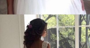 Brautkleider, Brautkleid, Prinzessin Brautkleider Brautkleid mit Rüschen ...  #...