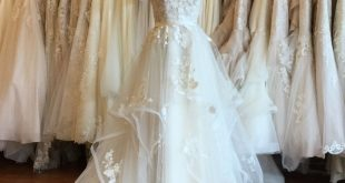 Flirty, feminine and fit for a princess, a ball gown made from cascading layers ...