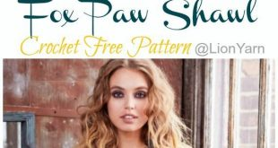 Fox Paw Shawl Crochet Free Pattern - #clothes #Crochet #Fox #Free #pattern #Paw