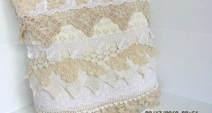 Handmade Pillow with Antique Repurposed Crochet Lace Includes Pillow Form 2019 ...
