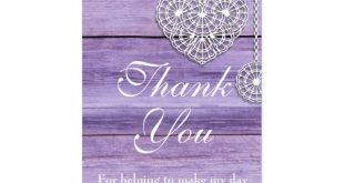 Lilac Wood and Lace Thank You Gift Tag | Zazzle.com