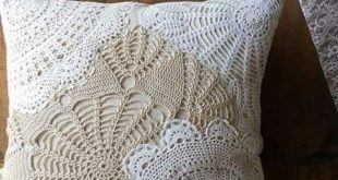 So pretty using lace dollies to make a vintage pillow.