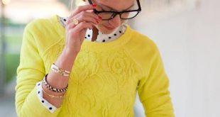 Yellow lace and polka dots