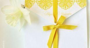 Yellow lace wedding invitation imperatrizata.blo...