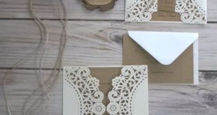 inexpensive rustic laser cut wedding invitation with tag EWWS040 as low as $1.99