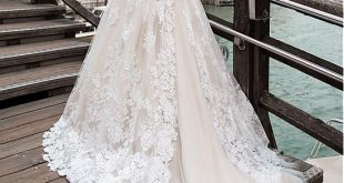 [253.60] Fantastische Tüll off-the-Shoulder-Ausschnitt A-Linie Brautkleid mit S...