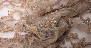 3D Beige Lace embroidered with beads Beige Beaded Lace Fabric, Embroidery lace fabric,3D Beige lace