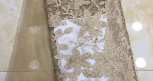 5yards/pc) High quality gold African tulle lace laser cut French net lace fabric for party dress FZZ088