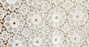 COTTON Fabric, Off-white Flower Lace Fabric, Retro Crochet Cotton Fabric Trim, Wedding Gown Bridal Fabric Supply