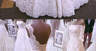 Elegant White Lace Appliques Wedding Dresses from dressydances