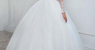 Elegantes Bateau-Ausschnitt-Ballkleid-Hochzeits-Kleid mit Spitze-Applikationen W...