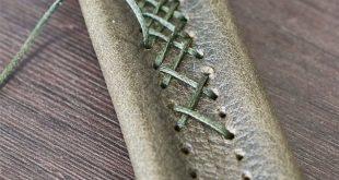 Kreuzstich. Schnürung ist eine sehr dekorative Methode zum Nähen von Lederprojekten ...  #dek...