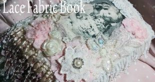 Lace Fabric Book 'Vintage Girls and thier Dolls' - Swap FOR Michelle - Y...