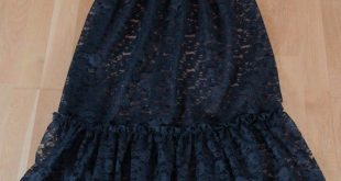 Long Black Lace Skirt Extender - Choose Length + Waist