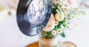 Music loving couple Ben and Kirsty had a rustic, festival style wedding with tou...