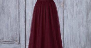 Party Dress Wine Tulle Bridesmaid Dress Criss Cross V Neck Wedding Dress Open Back Prom Dress A-Line Evening Dress Puffy Ball Gown(JS207)