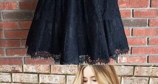 Pretty V Neck Sleeveless Black Lace A Line Short Homecoming Dress, BTW210 Pretty V Neck Sleeveless Black Lace A Line Short Homecoming Dress, BTW210
