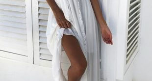 White Lace Spaghetti Strap Side Slit Flowy Deep V-neck Backless Bohemian Maxi Dress