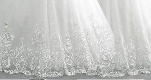 Zarte Tüll off-the-Schulter-Ausschnitt Ballkleid Brautkleider mit Perlensticker...