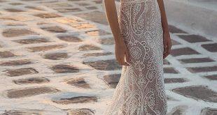 einzigartige Spitze Brautkleider Mantel Schatz mit Ärmeln für Strand ju ... - ...