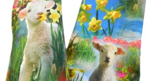 sheep, flower, spring, warm soft Gloves sleeves flowers Ideal to dresses or over a thin sweater elastic, slightly formed and fits good
