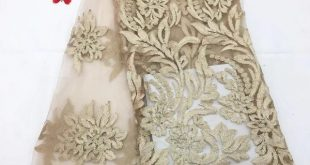 African Lace Fabric 2018 High Quality Gold Lace Pink French Tulle Lace Embroidery Lace White African Dresses For Women