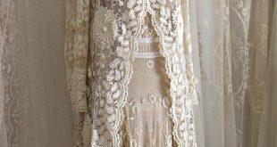 Exquisite antike irische Spitze Hochzeit Mantel / Museum / | Etsy