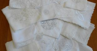 16 Monogram Hanky Cutters White on White Embroidery Lace Madeira Vintage Hankies w Flaws Crafts DIY Upcycle, Letters A B F G H J L M N R S W