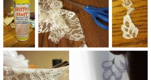 1/8 yard of lace    +Tacky Glue mixed with H20 (Basically homemade Mod Podge)   ...