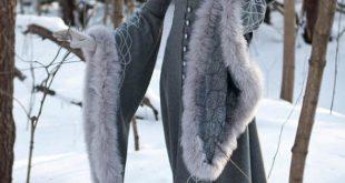 "20% DISCOUNT! Wool Gray Fantasy Coat ""Heritrix of The Winter""; snow princess; white queen fur coat"