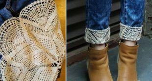 25 + › DIY – Jeans Refashion mit Spitze