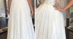 25 + › V-Ausschnitt A-Linie Brautkleider von RosyProm, $ 228.94 USD – Brautkleider