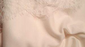 2x large ROSÉ GOLD mirrored lace flower appliqué, Lace flower, Wedding dress lace, lace patch, bridal dress appliqué, gold lace (A17-065)
