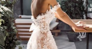 3D elegante Boho Elfenbein Hochzeit Kleid erröten weiß Spitzenärmel Zug besticktem Tüll Kleid Hochzeit Kleid Boho Korsett offene Spitze Transparen